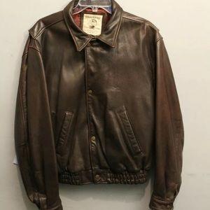 Vintage banana republic brown leather jacket